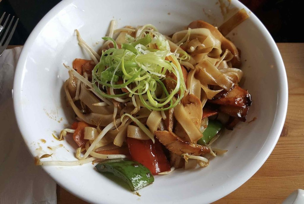 Maple Avenue Tap & Grill top Haliburton Restaurant serves Asian inspired dishes