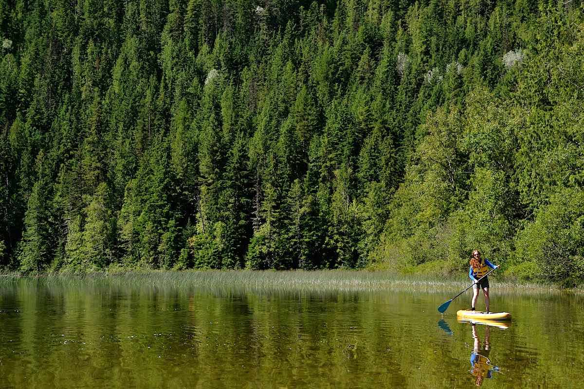 Get Up Stand Up Paddle Board adventures is a fun thing to do on Mindens lakes